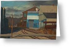 Across The Tracks Greeting Card by Martha Ressler