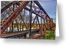 Across The Water 6th Street Rr Bridge Augusta Georgia Art Greeting Card