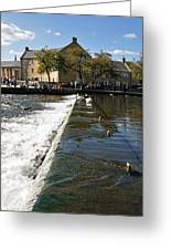 Across The Weir At Bakewell Greeting Card