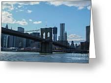 Across To Manhattan New York New York Greeting Card