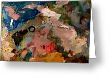 Acryl Color Abstract Greeting Card
