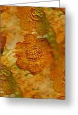 Acryl Painting Goldflowers Greeting Card
