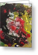 Acrylic Abstract 15-v.vvv Greeting Card