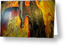 Acrylic Glass Pour 4 Greeting Card