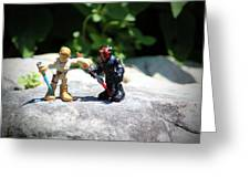 Action Figures Greeting Card