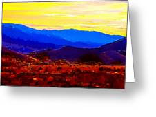 Acton California Sunset Greeting Card