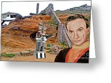 Actor Jonathan Harris As Dr Smith From Lost In Space II Greeting Card