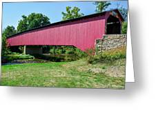 Adairs/cisna Mill Covered Bridge Greeting Card
