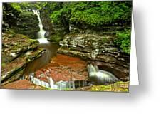 Adams Falls Landscape Greeting Card