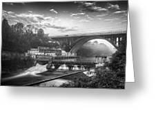 Adda Dam Greeting Card