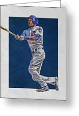 Addison Russell Chicago Cubs Art Greeting Card