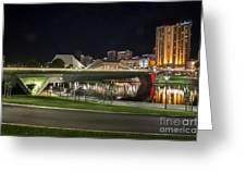 Adelaide Riverbank At Night II Greeting Card