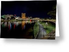 Adelaide Riverbank At Night Iv Greeting Card
