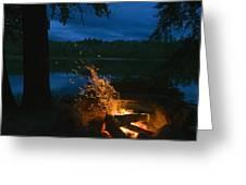 Adirondack Campfire Greeting Card