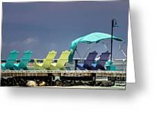 Adirondack Chairs At Coyaba Mahoe Bay Jamaica. Greeting Card