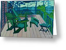 Adirondack Chairs Maine Greeting Card