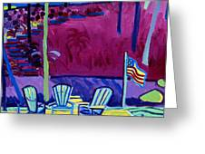 Adirondack Float Long Sought For Pond Westford Ma Greeting Card
