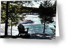 Adirondack Silhouette Greeting Card
