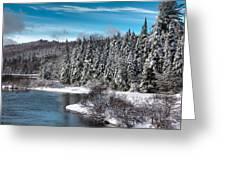Adirondack Snowfall Greeting Card