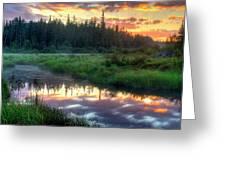 Adirondack Sunrise Greeting Card