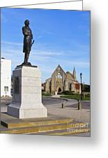 Admiral Lord Nelson And Royal Garrison Church Greeting Card