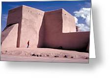 Adobe Church In Taos Greeting Card