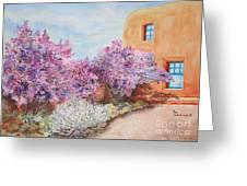Adobe Lilacs Greeting Card