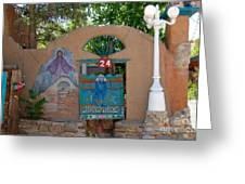 Adobe Wall Chimayo  Greeting Card