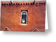 Adobe Wall With Window Greeting Card