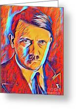 Adolf Hitler, Leaders Of Wwii Series.  Greeting Card