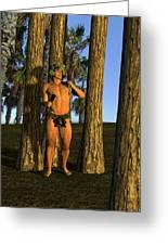 Adonis At Sunset Greeting Card