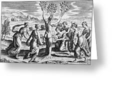 Adonis Being Born From Myrrha Greeting Card