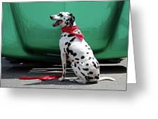 Happy Dalmatian  Greeting Card