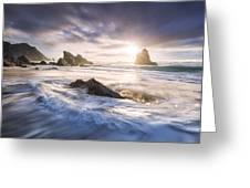 Adraga Surf Greeting Card
