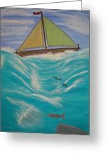 Adrift At Sea Greeting Card