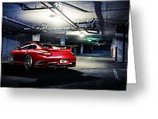 Adv1 Red Porsche 2 Greeting Card