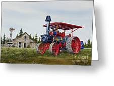 Advance Rumely Steam Traction Engine Greeting Card