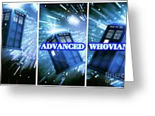 Advanced Whovians Alt Greeting Card