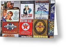 Advertising Signs Display Greeting Card