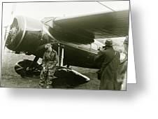 Amelia Earhardt, Ireland, Solo Atlantic Crossing, May 21st, 1932 Greeting Card
