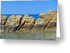 Aegean Rocks Greeting Card
