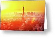 Sunset In Paris  Greeting Card