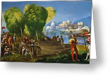 Aeneas And Achates On The Libyan Coast 1520 Greeting Card