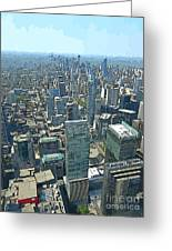 Aerial Abstract Toronto Greeting Card