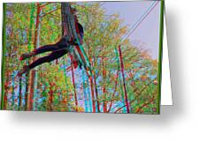 Aerial Artist - Use Red-cyan 3d Glasses Greeting Card