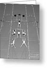 Aerial Circus Act, C.1940s Greeting Card