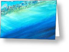 Aerial Coastline Greeting Card