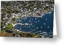 Aerial Edgartown Greeting Card