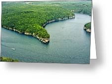 Aerial Image Of  Long Point Cliff Greeting Card