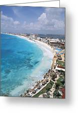 Aerial Of Cancun Greeting Card